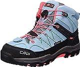 CMP Rigel Mid Wp Unisex-Kinder Trekking-& Wanderschuhe, Türkis (Clorophilla-Red...