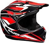 Raider GX3 Unisex-Child MX Off-Road Helmet (Red, Youth Large)