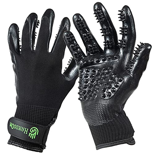 H HANDSON Pet Grooming Gloves - Patented #1...