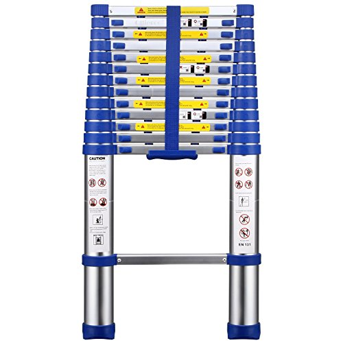 2. OLLIEROO Aluminum Telescopic Extension Ladder