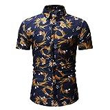 YOUTHUP Chemises à Manches Courtes Imprimé Floral Hawaiienne Cool Chic Coupe Slim Mutilcolore Manifique Pull d'été