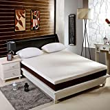 ST Starcast & INGALIK 3 Inch Memory Foam Mattress Topper Queen Size, Gel-Infused Cooling Bed Topper with Removable & Washable Bamboo Fiber Cover, Zipper Closure
