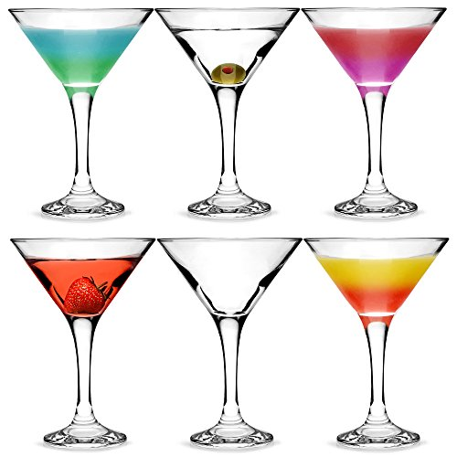 bar@drinkstuff Set da 6 ,City bicchieri da Martini e Cocktail in confezione regalo, con forma a V per servire bicchieri da Martini Cocktail