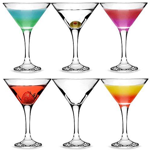 bar@drinkstuff Set da 6 ,City bicchieri da Martini e Cocktail in confezione regalo, con forma a V...