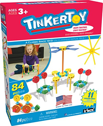 TINKERTOY – Little Constructor's Building Set – 84 Pieces – Ages 3+ Preschool Educational Toy