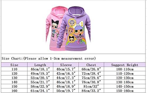 Image 2 - Sweat à capuche respirant pour fille Motif poupées arc-en-ciel - Noir - 3 ans