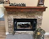 Floating Barn Wood Fireplace Mantel (8x10x60)
