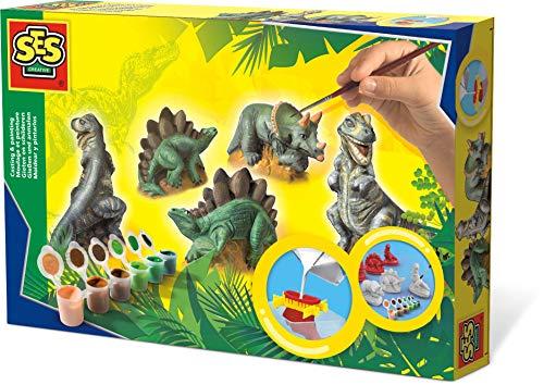 SES Deutschland 01406 - Set para pintar figuras de dinosauri