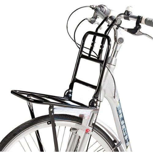 "SCHOBERG Fahrrad Frontgepäckträger Vorne Frontträger Gepäckträger universal 24 bis 28\""Holland Style Universalträger max. Zuladung 15kg (Schwarz)"