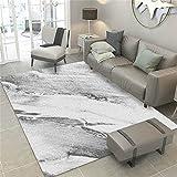 alfombra dormitorio juvenil gris Alfombra de sala de estar gris rayas difusas...