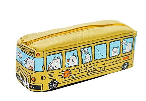 Fablcrew Borsa da viaggio organizzatore cosmetico Astuccio borsa di cancelleria stile bus Regalo di...