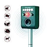 FRYZOO Ultrasonic Pest Animal Expeller Outdoor Solar Powered with Motion Sensor, Repel Cat Dog Deer Bird, Waterproof Expeller for Farm, Garden (Green)