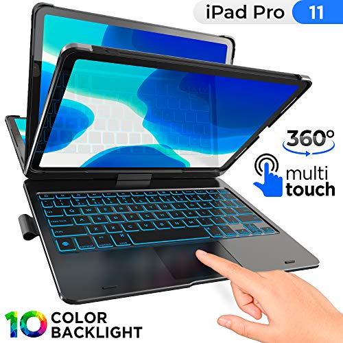 TYPECASE Touch - iPad Pro 11 Case 2020 with Keyboard & Touchpad - Magic Keyboard Style Trackpad & Smart Backlit Keys for 1st & 2nd Gen 11-inch iPad 2018-2020, Compatible with Apple Pencil (Black)