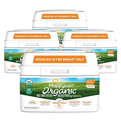 Happy Baby Organics Infant Formula, Milk Based Powder with...