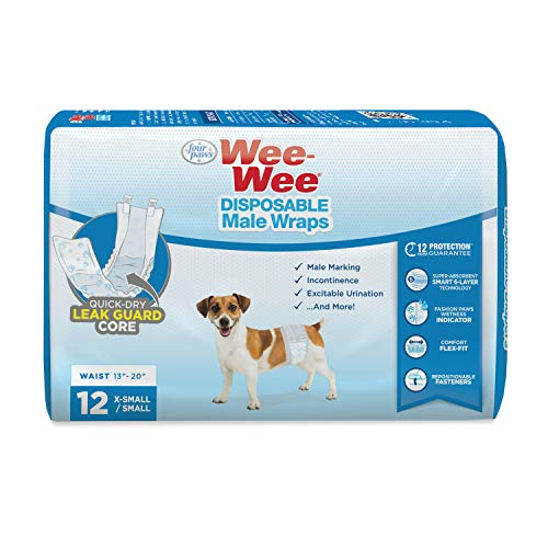 Four Paws Wee-Wee Disposable Male Dog Wraps 12...