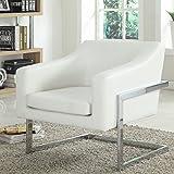 Best Master Furniture Modern Club Chair, Medium, White