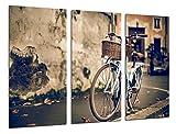 Cuadro Fotográfico Cuadro Bicicleta Vintage Tamaño total: 97 x 62 cm XXL