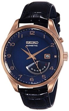 Seiko Men's Kinetic SRN062 Rose-Gold Stainless-Steel Fashion Watch