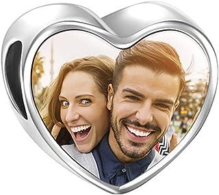 Ideas de regalos de boda baratos - Pulsera de Foto Personalizado Plata de Ley
