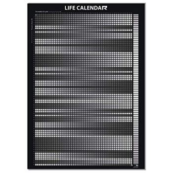 Life Calendar The overview of your first 4,160 weeks in life (English Edition) - Black