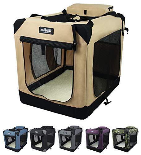 EliteField 3-Door Folding Soft Dog Crate, Indoor &...