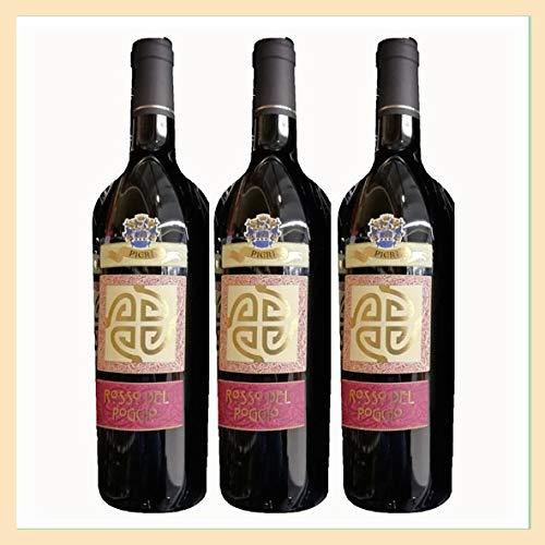 3x Vino Rosso Conero'del Poggio' doc, bottiglia 0,75 lt, Cantina Pieri, localit Poggio, Ancona, prodotto tipico marchigiano, Italy