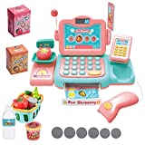 YYoomi Pretend Play Educational Cash Register Toy Classic Counting Toy with Microphone/ Calculator/ Scanner/ Sound/ Music for Kids & Toddlers & Preschoolers