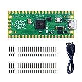 GeeekPi Raspberry Pi Pico Kit Flessibile Microcontrollore Mini Scheda di Sviluppo, Basato sul Raspberry Pi RP2040, Dual-Core ARM Cortex M0+ Processore, Fino a 133 MHz, Supporto C / C ++ / Python