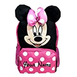 Personalized Disney Minnie Mouse Face Backpack Book Bag - 16 Inches