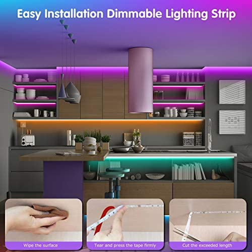 LED Strip Lights Battery Powered13.12ft,Tenmiro Led Lights USB Powered for TV,RGB 5050 Color Changing Led Lights,with Remote Led Lights for Bedroom,Home Decoration,Party,Camping 17