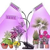 Railee Lmpara de Plantas, 144 LED 3 Cabezales Lmpara de Crecimiento Luz para Plantas Interruptor Temporizador Auto 3/6/12H Regulable 360 para Siembra en Crecimiento, Germinacin y Floracin