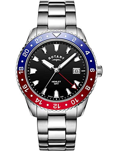 Rotary GB05108/30 Henley Herrenuhr GMT 42mm 10ATM