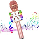 Microphone Sans Fil Karaoké, Micro Bluetooth Lecteur karaoké Portable 4 en 1...