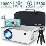 1080P HD Projector, WiFi Projector Bluetooth Projector, Fangor 5500 Lumen 230' Portable Movie Projector, Compatible with TV Stick, HDMI, VGA, USB, Laptop, iPhone Android for PowerPoint Presentation