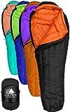 Hyke & Byke Eolus 15 & 30 Degree F 800 Fill Power Hydrophobic Goose Down Sleeping Bag with ClusterLoft Base - Ultra Lightweight 3 Season Men's and Women's Mummy Bag Designed for Backpacking