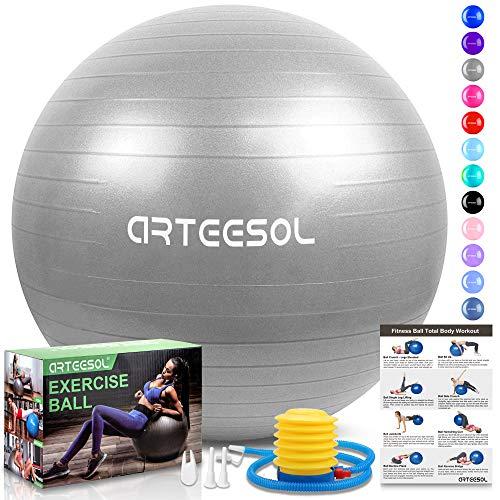 arteesol Balón de Ejercicio Anti-explosión, 45cm / 55cm / 65cm / 75cm Fitness Yoga Ball...
