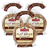Toufayan Bakery, Whole Wheat Mediterranean Flatbread for Gyros, Sandwiches, Paninis, Dip and Snacks, Naturally Vegan, Cholesterol Free and Kosher (Wholesome Wheat, 3 Pack)