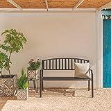 Ldk Garden Gartenbank aus Stahl, Schwarz Antik - 4