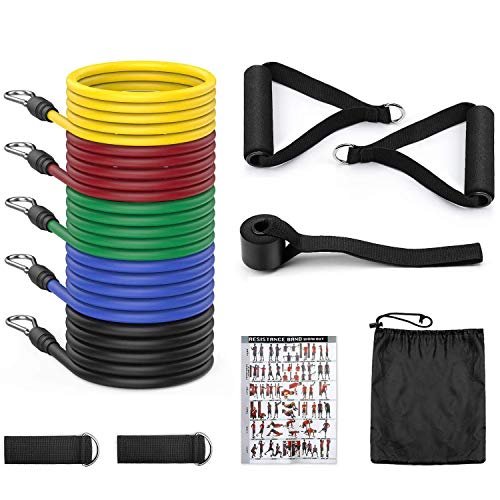 5 O'CLOCK SPORTS Resistance Bands for Workout for Women & Men Exercise Bands for Home and Gym Workouts. Perfect Resistance Band for Exercise and Muscle Building.