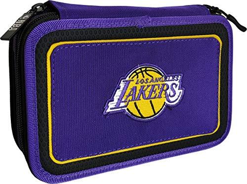 NBA LOS ANGELES LAKERS ASTUCCIO 3 ZIP COMPLETO 62613