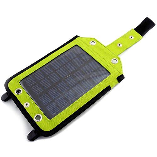 Powerneed - Batterie Externe Power Bank de Voyage, Universel, étanche, avec Panneau Solaire 2,5 W, 3000 mAh, Chargeur USB, Vert