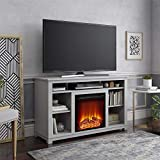 Ameriwood Home Edgewood Fireplace 55', Dove Gray TV Stand,