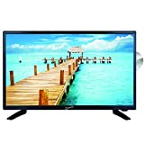 SuperSonic SC-2412 LED Widescreen HDTV 24', Built-in DVD Player with HDMI, USB, SD & AC/DC Input: DVD/CD/CDR High Resolution and Digital Noise Reduction