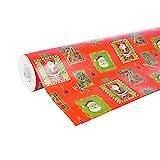 Clairefontaine 211302C - Une bobine papier cadeau Alliance 50mx0m70 60g, Père...