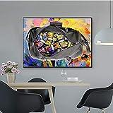 wZUN Pintura para el hogar Pintura en Lienzo estándar de Oro Moderno/Cultura Pop Estilo de Dinero Arte Callejero Lienzo decoración del hogar Cartel de Arte de Pared 50x75 cm