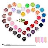 Esmalte de uñas en gel Janolia, 36 colores, esmalte de uñas en gel UV LED, ...
