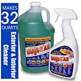 PROSOL Bugs N All 1 Gal. Concentrate Makes 32 Qts. Pre-Wash Vehicle Cleaner - Bug Splatter and Black Streak Remover. Includes an Empty 32 oz. Spray Bottle - Will Not Remove Wax!