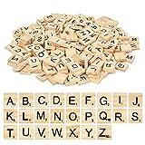 1000 pièces Lettres Alphabet en Bois A-Z Carreaux de Lettres Bois Carreaux de...