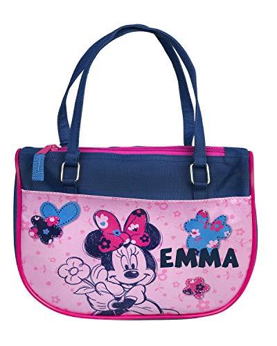 Kindergartentasche mit Namen   Personalisieren & Bedrucken   Motiv Minnie Mouse   Handtasche für Kinder Mädchen   inkl. NAMENSDRUCK