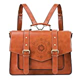 ECOSUSI Backpack for Women Briefcase Messenger Laptop Bag Vegan Leather Satchel Work Bags Fits...